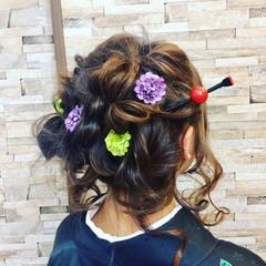 ゆるふわ ヘアアレンジ ガーリー アップスタイル ヘアスタイルや髪型の写真・画像