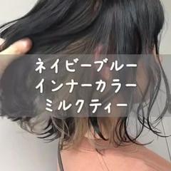 大人かわいい ストリート インナーカラー 夏 ヘアスタイルや髪型の写真・画像