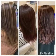 ナチュラル ロング ブリーチオンカラー ブリーチ ヘアスタイルや髪型の写真・画像