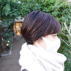 マッシュ ミニボブ ショート マッシュショート ヘアスタイルや髪型の写真・画像