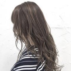 ロング ヘアアレンジ ハイライト グラデーションカラー ヘアスタイルや髪型の写真・画像