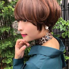 ミニボブ ナチュラル ショートヘア ショート ヘアスタイルや髪型の写真・画像