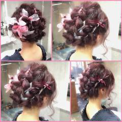 ミディアム 外国人風 ヘアアレンジ マルサラ ヘアスタイルや髪型の写真・画像