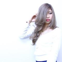 ホワイトアッシュ モード ロング 渋谷系 ヘアスタイルや髪型の写真・画像
