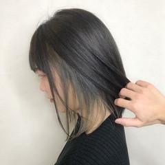 デート 成人式 ボブ インナーカラー ヘアスタイルや髪型の写真・画像