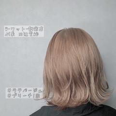 デート 切りっぱなしボブ ミニボブ 透明感カラー ヘアスタイルや髪型の写真・画像