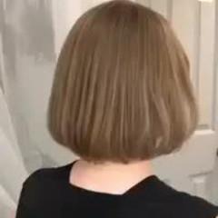 ゆるふわ ボブ ハイライト デート ヘアスタイルや髪型の写真・画像