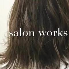 ローライト マット ボブ アッシュ ヘアスタイルや髪型の写真・画像