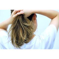 グラデーションカラー ミディアム 春 外国人風 ヘアスタイルや髪型の写真・画像