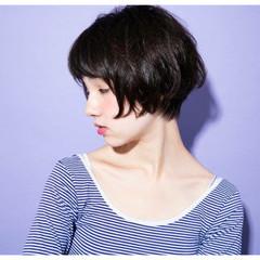 ショート ナチュラル 丸顔 外国人風 ヘアスタイルや髪型の写真・画像