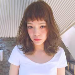 愛され グラデーションカラー ゆるふわ ミディアム ヘアスタイルや髪型の写真・画像