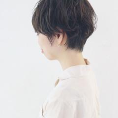 マニッシュ ナチュラル ショートボブ 簡単 ヘアスタイルや髪型の写真・画像