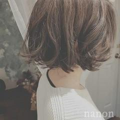 こなれ感 ボブ 外ハネ フェミニン ヘアスタイルや髪型の写真・画像