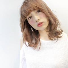 ミディアム 大人かわいい フェミニン ロブ ヘアスタイルや髪型の写真・画像