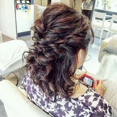 外国人風 編み込み ヘアアレンジ 結婚式 ヘアスタイルや髪型の写真・画像