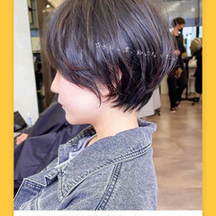 マッシュショート アンニュイほつれヘア ショートボブ ショートヘア ヘアスタイルや髪型の写真・画像