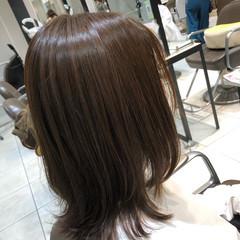 ナチュラル 艶髪 カーキアッシュ 髪質改善トリートメント ヘアスタイルや髪型の写真・画像