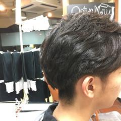 ミディアム 黒髪 ナチュラル メンズ ヘアスタイルや髪型の写真・画像