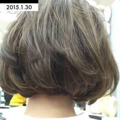 ストリート 外国人風カラー ボブ ストレート ヘアスタイルや髪型の写真・画像
