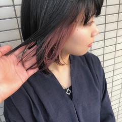 ヘアアレンジ 色気 インナーカラー ボブ ヘアスタイルや髪型の写真・画像