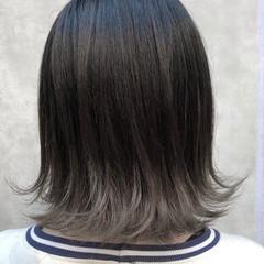 デート ハイライト ヘアアレンジ グラデーションカラー ヘアスタイルや髪型の写真・画像