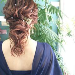 成人式 女子力 ヘアアレンジ 結婚式 ヘアスタイルや髪型の写真・画像