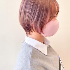 ショート インナーカラー ショートボブ ウルフカット ヘアスタイルや髪型の写真・画像