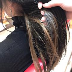 ナチュラル エクステ ハイライト ロング ヘアスタイルや髪型の写真・画像