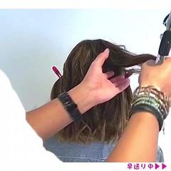 ボブ ナチュラル デート アウトドア ヘアスタイルや髪型の写真・画像