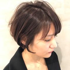 ナチュラル ショート ベージュ ヘアスタイルや髪型の写真・画像
