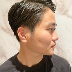 メンズ 刈り上げ 黒髪 ショート ヘアスタイルや髪型の写真・画像