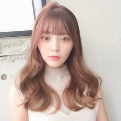 ヨシンモリ シースルバング 韓国ヘア フェミニン ヘアスタイルや髪型の写真・画像