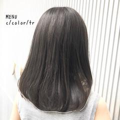 前髪 髪質改善 ストレート ミディアム ヘアスタイルや髪型の写真・画像