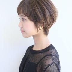 ガーリー ショートボブ ショートヘア ミニボブ ヘアスタイルや髪型の写真・画像
