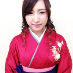 袴 ヘアアレンジ ロング ハーフアップ ヘアスタイルや髪型の写真・画像