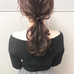 簡単ヘアアレンジ デート ヘアアレンジ ローポニー ヘアスタイルや髪型の写真・画像