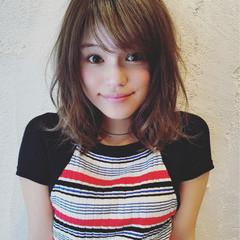 ミディアム 外国人風カラー 透明感 グレージュ ヘアスタイルや髪型の写真・画像