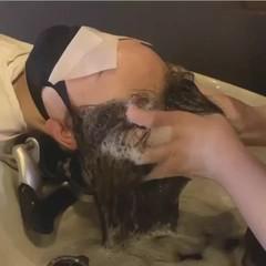 シャンプー ヘッドスパ 小顔 ロング ヘアスタイルや髪型の写真・画像
