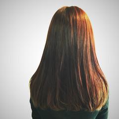 グラデーションカラー コンサバ セミロング 大人女子 ヘアスタイルや髪型の写真・画像