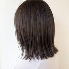 ボブ 髪質改善トリートメント 透明感カラー 切りっぱなしボブ ヘアスタイルや髪型の写真・画像