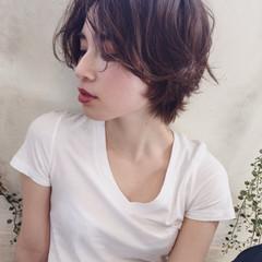 暗髪 外国人風 黒髪 ショート ヘアスタイルや髪型の写真・画像