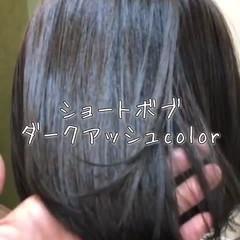 ボブ ナチュラル ショートボブ ワンレングス ヘアスタイルや髪型の写真・画像