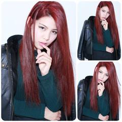 モード 外国人風 ダブルカラー 大人かわいい ヘアスタイルや髪型の写真・画像