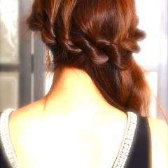 ゆるふわ ヘアアレンジ ロング アップスタイル ヘアスタイルや髪型の写真・画像