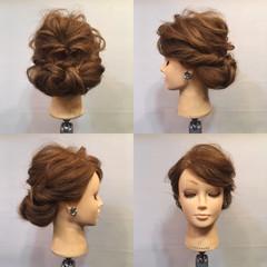 くるりんぱ 結婚式 パーティ フェミニン ヘアスタイルや髪型の写真・画像