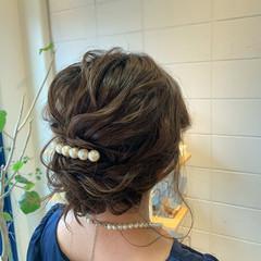 エレガント 結婚式 大人かわいい ミディアム ヘアスタイルや髪型の写真・画像