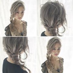 ショート ゆるふわ フェミニン 編み込み ヘアスタイルや髪型の写真・画像