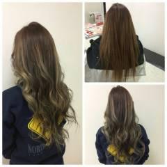 黒髪 グラデーションカラー ストリート ロング ヘアスタイルや髪型の写真・画像