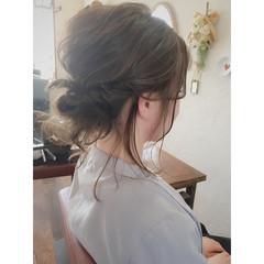 ヘアアレンジ ミディアム ナチュラル 着物 ヘアスタイルや髪型の写真・画像