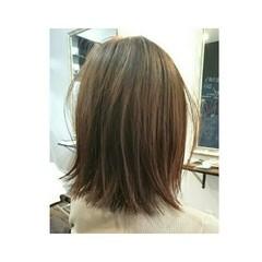 切りっぱなし 艶髪 ボブ ナチュラル ヘアスタイルや髪型の写真・画像